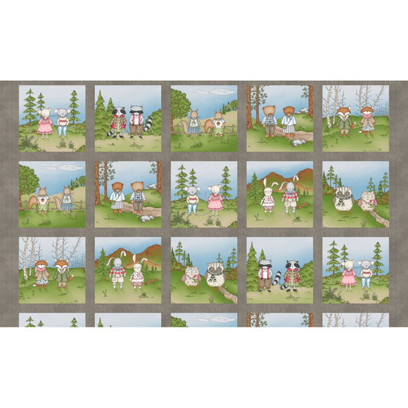 Forest Friends Collection by Kris Lammers - Forest Friends Squares  - Panel