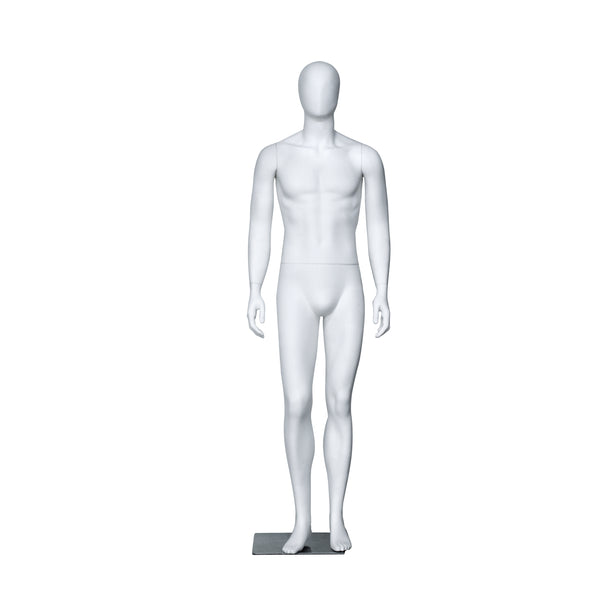 PM1 White Matt Male Mannequin