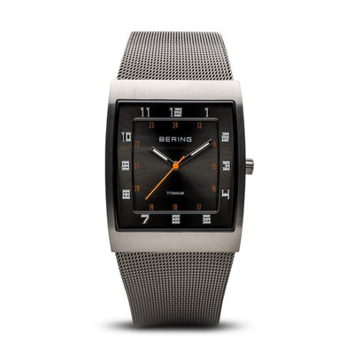 Gents Titanium Brushed Mesh Watch