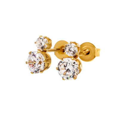 Edblad Double Crown Studs - Gold