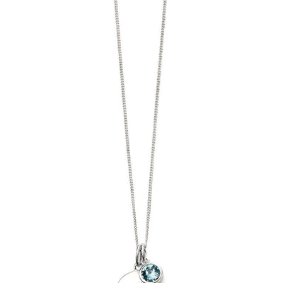 March Birthstone Pendant - Aquamarine