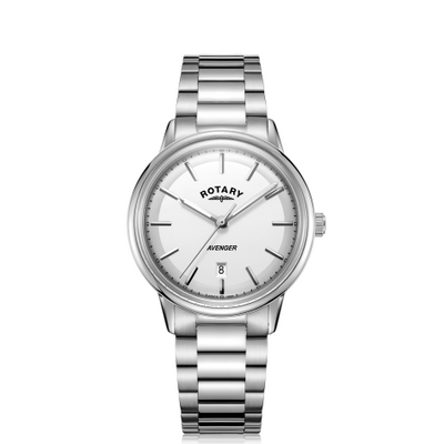 Rotary White Avengers Gents Watch