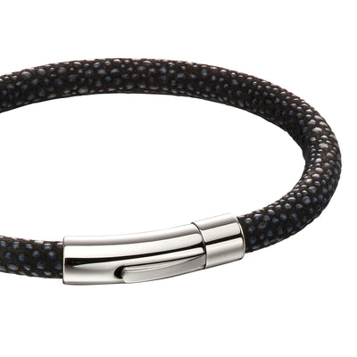 Fred Bennett black leather Bracelet