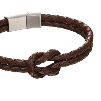 Fred Bennett brown leather knot bracelet