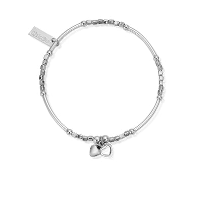 ChloBo Mini Noodle Double Hearts Bracelet