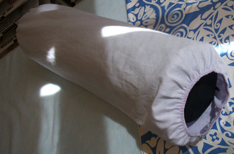 artisan-made cotton bolster covers for massage.