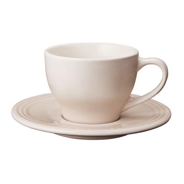 Le Creuset Stoneware Cappuccino Cups, Set of 2 - Meringue