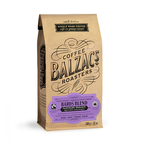 Balzac's Coffee Roasters Bards Blend Whole Bean Coffee 12 oz.