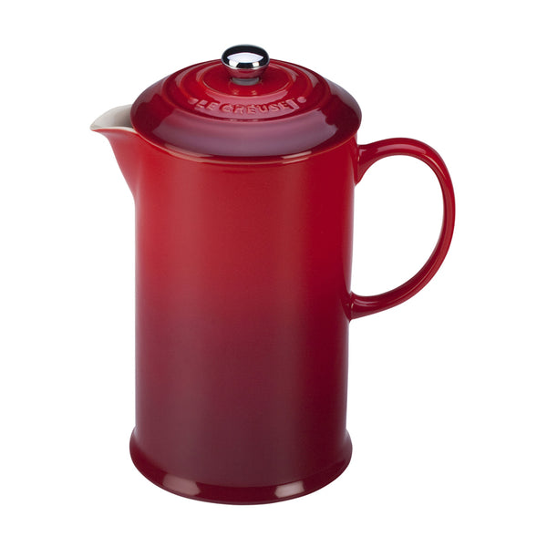 Le Creuset Cafe Stoneware French Press - Cerise