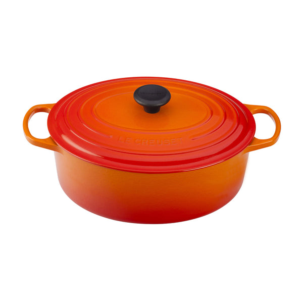 Le Creuset Signature Cast-Iron Oval French Oven 6.3L - Flame