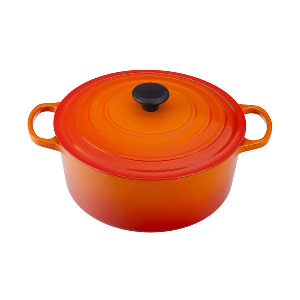 Le Creuset Signature Cast-Iron Round French Oven 5.3L - Flame