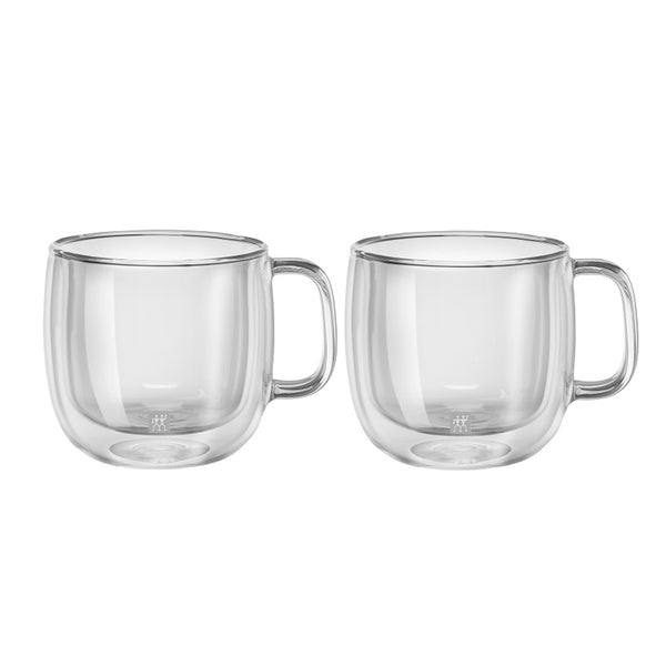 Zwilling Sorrento Plus Double Wall Cappuccino Glass with Handle 15 oz., Set of 2