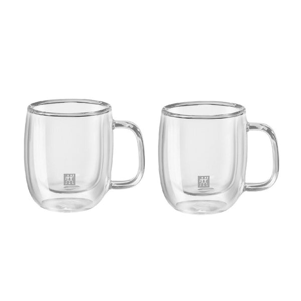 Zwilling Sorrento Plus Double Wall Espresso Glass with Handle 2.7 oz., Set of 2