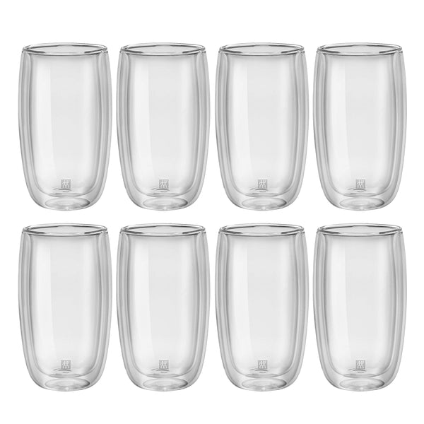 Zwilling Sorrento Double Wall Latte Glass 11.8 oz., Set of 8