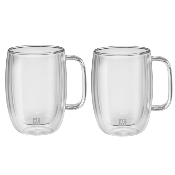Zwilling Sorrento Plus Double Wall Latte Macchiato Glass with Handle 15 oz., Set of 2