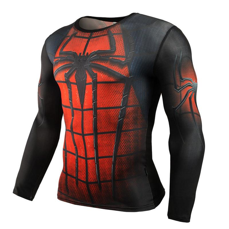 New Spider-Man Sports Fitness Long Sleeve T-Shirt