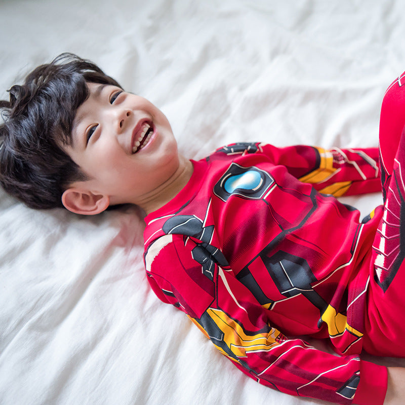 Cute Trendy Cotton Iron Man Pajamas for Kids