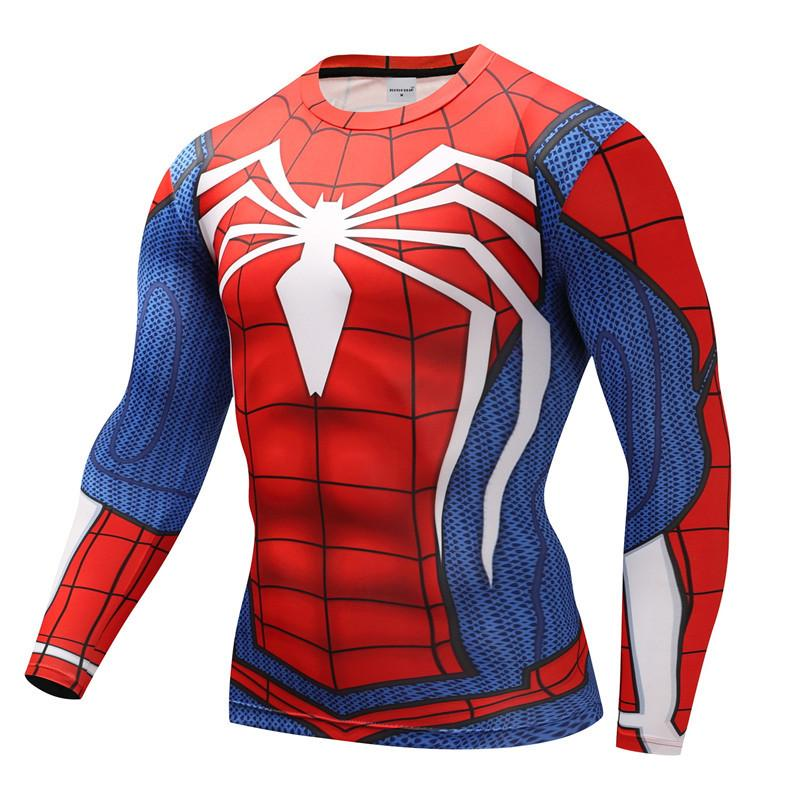 Spider-Man Riding Fitness Long Sleeve T-Shirt