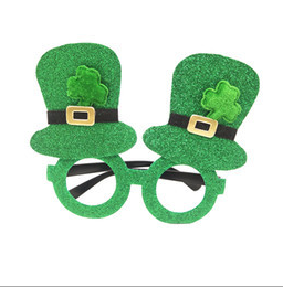 St. Patrick's Day holiday clover glasses