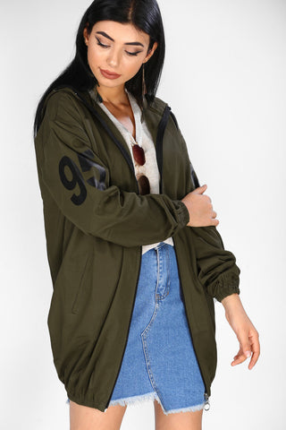 Women's Hooded Khaki Jacket