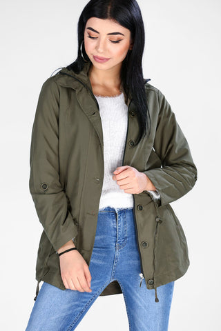 Khaki Trench Coat&Jacket