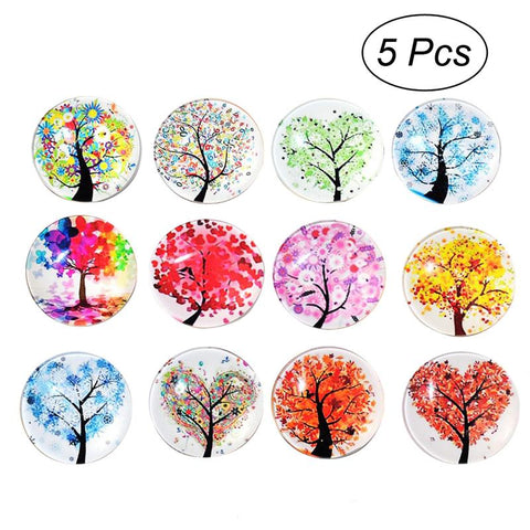 5pcs Fridge Magnets Glass