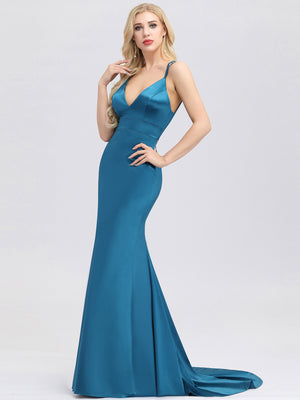 Ever-Pretty Women's Deep V-Neck Spaghetti Straps Bodycon Mermaid Dress EP00913