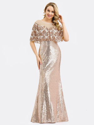 Ever-Pretty Women's Off Shoulder Sequin Beads Bodycon Evening Dress EP00991