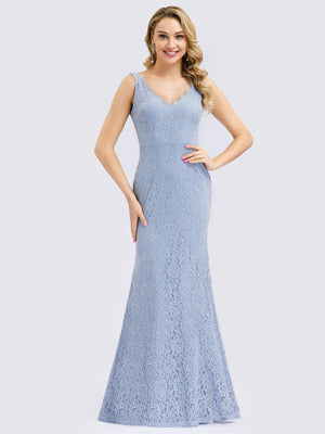 Ever-Pretty Floral Lace Fishtail Dresses for Women EP00998
