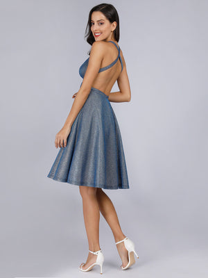 Ever-Pretty Backless Shiny Cocktail Dresses for Women EP03057