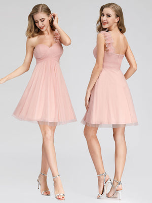 Ever-Pretty One Shoulder Sweetheart Neckline Bridesmaid Dresses for Women EP03093