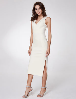 Ever-Pretty Ever Pretty Fashion V neck Sleeveless Dresses EP07235