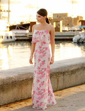 Ever-Pretty Women Feminine Spaghetti Flower Printed Bridesmaid Dresses EP07236
