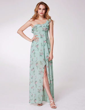 Ever-Pretty Romantic One Shoulder Flora Printed Bridesmaid Dresses EP07240