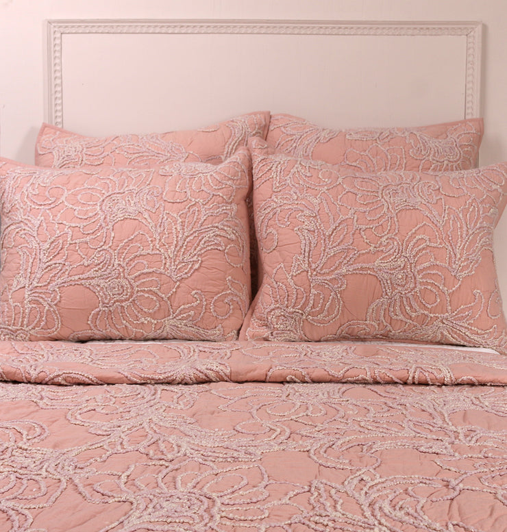 VINTAGE ROSE PINK KING BED SET - DaOneHomes