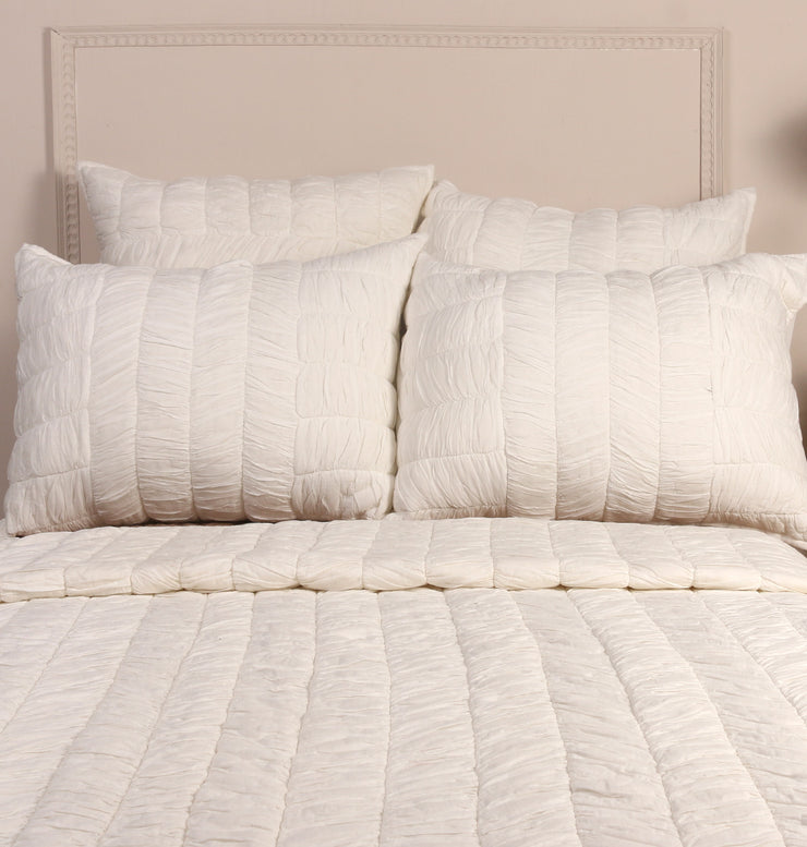 WHITE COTTON KING BED SET - DaOneHomes