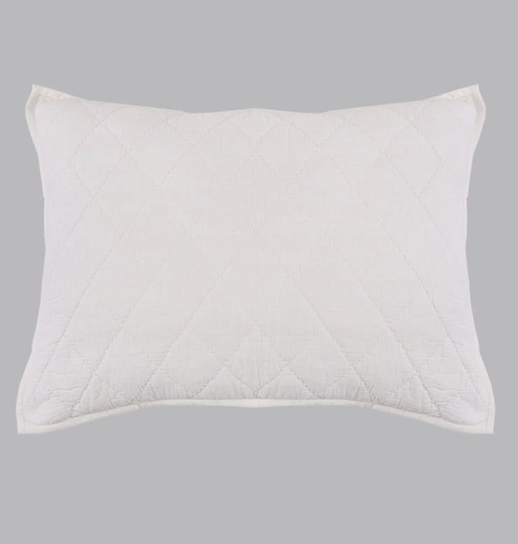 White Double Diamond Pillow Sham - DaOneHomes