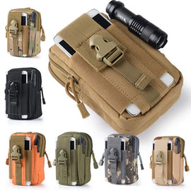 Multifunction High Capacity Tactical Military Men Sport Waist Bag Waterproof Running Bag Fanny Pack For Mobile Phone Coin Purse