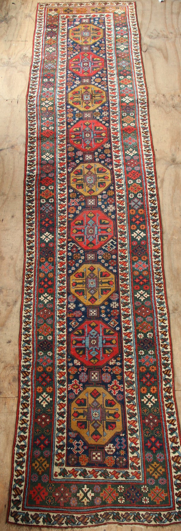 "Late 19th century Kurdish runner 3'3"" x 14'8"" / 100 x 448cm"