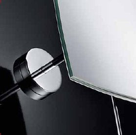 Lineabeta Wall Mirror, 3x Magnification, Square, 156x156mm