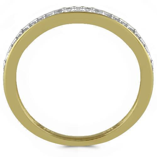 14K Yellow Solid Gold Womens Diamond Wedding Ring Band 0.12  Ctw