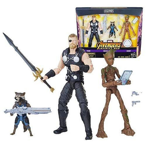 Marvel Legends Thor Rocket Raccoon Groot