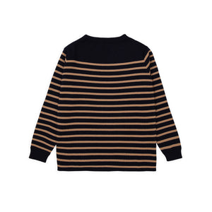 Marine Stripe - Navy Blue W/ Camel Stripe