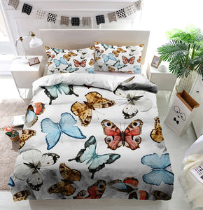 Beautiful watercolor butterflies Duvet Cover Bedding Set