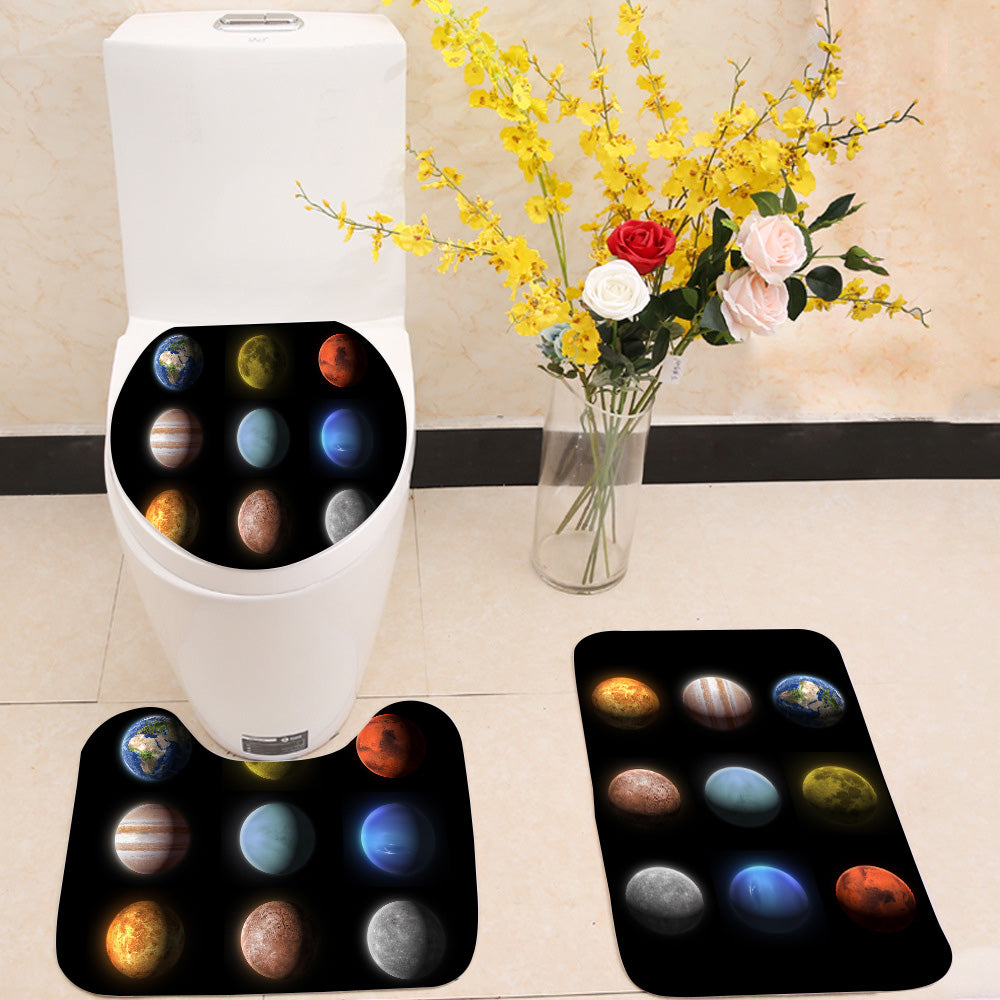 Planets of the solar system 3 Piece Toilet Cover Set