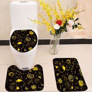 Bohemian Indian Mandala Tattoo 3 Piece Toilet Cover Set