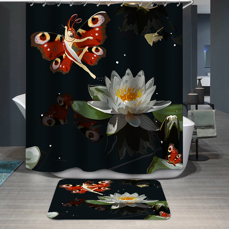 Butterfly elf lily Shower Curtain