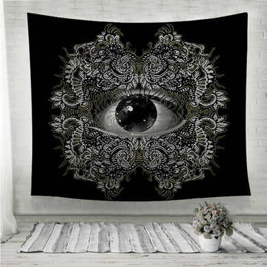 Vision Black and White Wall Tapestry