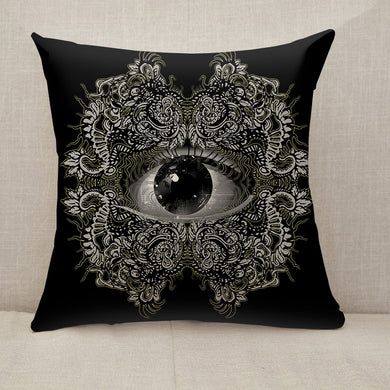 Vision Black and White Throw Pillow [With Inserts]