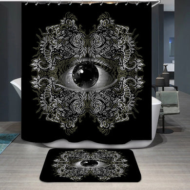 Vision Black and White Shower Curtain